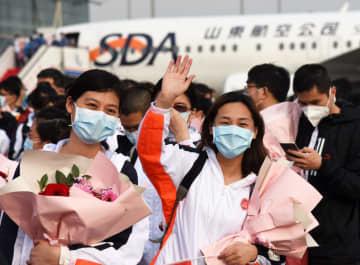 山東省の湖北派遣医療隊576人が無事帰還