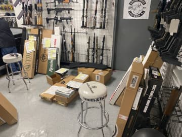 The staff at Shore Shot Pistol Range in Lakewood is scrambling to keep guns on the shelves. (Photo courtesy of Kyle Sherman) (User Submitted/)
