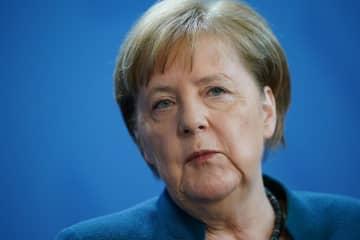 ドイツのメルケル首相=22日、ベルリン(ゲッティ=共同)
