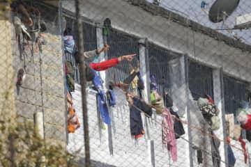 暴動があった南米コロンビアの首都ボゴタにある刑務所=22日(AP=共同)