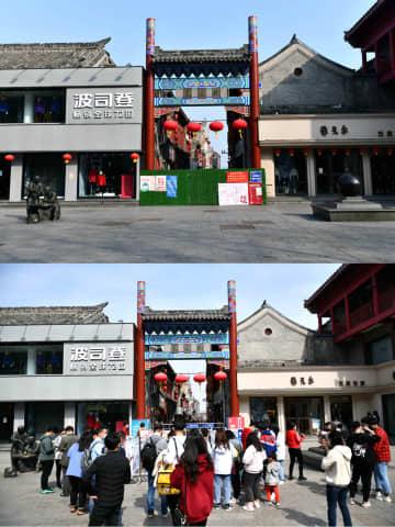 済南市の「金街」、にぎわい戻る