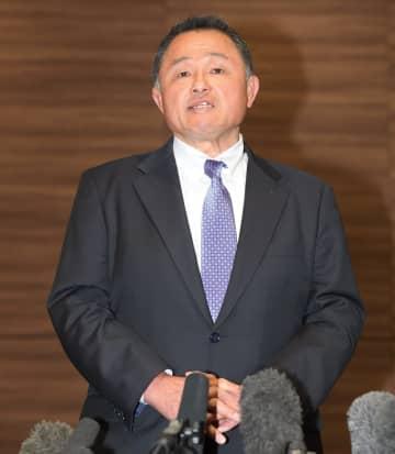 東京五輪延期問題について語るJOC・山下会長=都内(撮影・金田祐二)
