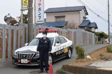 鎌田悠愛ちゃんが殺害された住宅=23日午後3時55分ごろ、千葉市稲毛区長沼原町