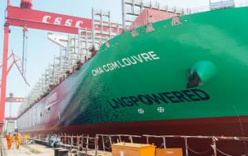 生産再開が進む造船所 上海市の江南造船