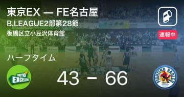 【速報中】東京EXvsFE名古屋は、FE名古屋が23点リードで前半を折り返す