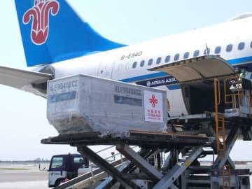 中国の支援物資、バンコクに到着