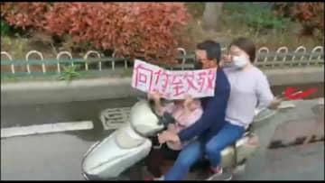 英雄の凱旋、湖北省孝感市に派遣の重慶市医療支援隊が帰途に