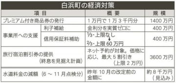 和歌山県白浜町の経済対策