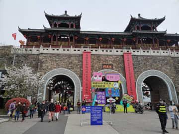 南京市で新型肺炎の予防・抑制措置を緩和 花見客にぎわう