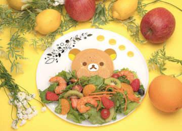 『リラックマのまくまくフルーツカフェ』リラックマのフルーツサラダ 1,590円(税抜)(C) 2020 San-X Co., Ltd. All Rights Reserved.