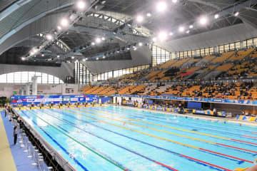 昨年の日本選手権水泳競技大会の様子