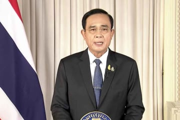 Prime Minister Prayut Chan-o-cha announced the state of emergency and measures to control the novel coronavirus through TV Pool on Wednesday afternoon.