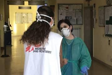 イタリアで最初の感染者が確認されたコドーニョ病院 © Lisa Veran/MSF