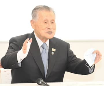 東京2020大会実施再スタート本部を発足しあいさつする森喜朗会長(撮影・三好信也)