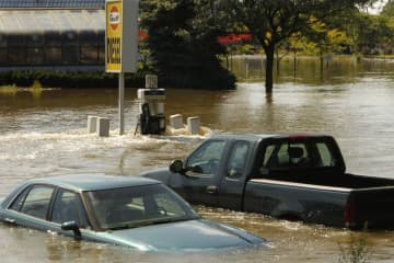 Floodwaters from the Passaic River after Hurricane Irene in 2011; the governor had cut off Parkway access to the Shore, but the real damage occurred inland. (Robert Sciarrino   For The Star-Ledger) (Robert Sciarrino/The Star-Ledger/)