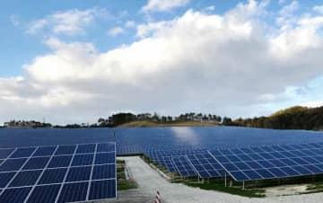 商業運転を開始したバンプーの黒川太陽光発電所=宮城県(同社提供)