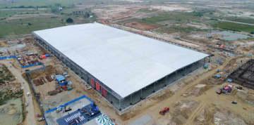 TCLがインド南部で建設中のテレビ拠点に併設される液晶パネルモジュール工場(TCL華星光電技術提供)