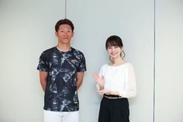 (左から)西川龍馬選手、高見侑里