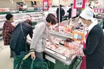 麓山高原豚が店頭に並ぶコープふくしま方木田店