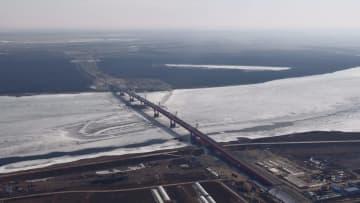 黒竜江大橋、中国側陸路口岸合同検査施設項目の進捗度75%に