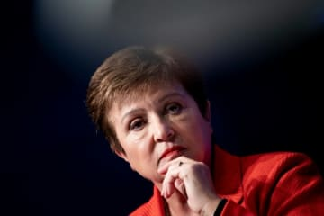 More than 80 countries, mostly of low incomes, have asked the IMF for help, the fund's chief Kristalina Georgieva says.