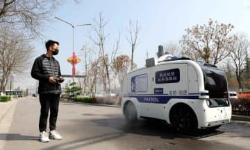 消毒、配達、パトロールなど多機能無人運転車が登場 陝西省西安市