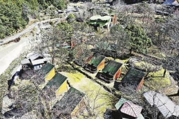 和歌山県田辺市が2022年の再開を目指して整備を計画している百間山渓谷キャンプ村(田辺市熊野で)