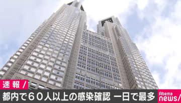東京都で新たに60人以上の感染確認 半数近くが台東区の病院関係者