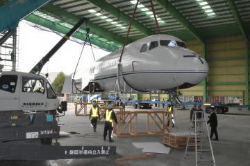 戦後初の国産旅客機 YS11、筑西に到着 10月初旬にも展示 画像