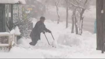 『大雪警戒』 長野県北部・中部は昼すぎまで… 各地で「道路の通行止め」や「停電」相次ぐ