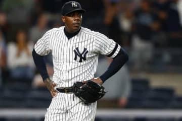 "【MLB】人類最速チャップマン、進化した""極太腕""に米驚愕 「あり得ないほどデカい」 画像"