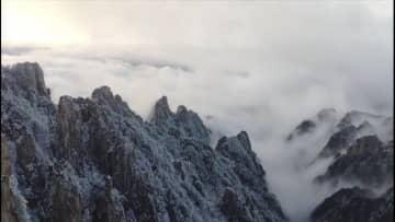 雲海と樹氷が織り成す絶景 安徽省黄山風景区