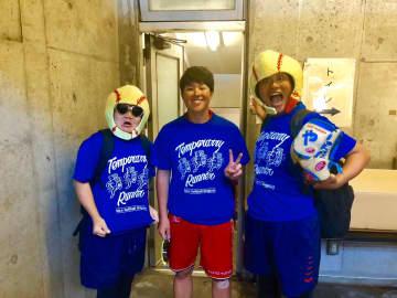 藤田倭選手とお笑い芸人「奇天烈オムレツ」