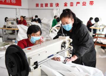 貧困支援作業場が操業再開 内モンゴル自治区ウランチャブ市