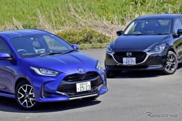 トヨタ ヤリス とマツダ2、同じBセグメントでMT車を設定する2台を比較した