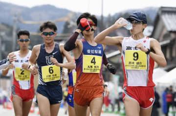 昨年の日本選手権50キロ競歩男子=2019年4月14日、石川県輪島市