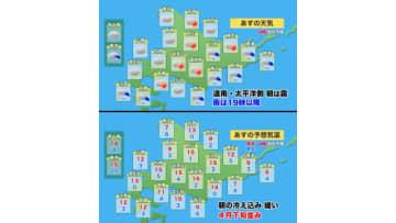 【北海道の天気 3/31(火)】きょうより雲多く、夜は太平洋側で雨!お出かけは折りたたみ傘を