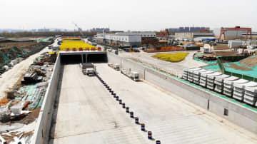 済南黄河トンネルの建設工事が全面再開 山東省