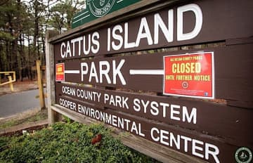Cattus Island Park in Toms River was one of 27 parks in Ocean County ordered to close by 8 p.m. Monday to stop the spread of the coronavirus. (Ocean County government photo/)