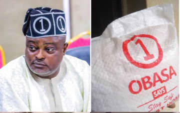 Obasa distributes Stimulus Package to constituents