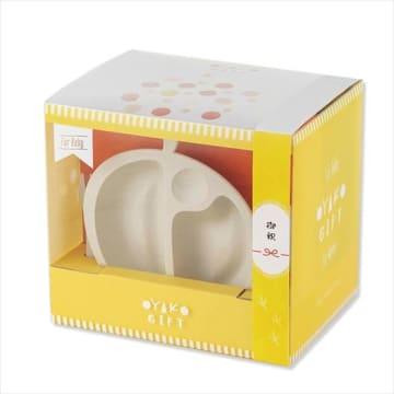 乳児用食器とシリアル食品をセットにした「OYAKO GIFT」