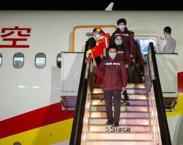 中国医療専門家チーム、ベネズエラに到着