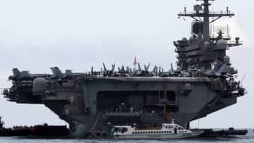 米空母で新型ウイルス流行、艦長が支援要請 4000人乗船