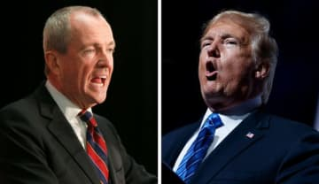 Gov. Phil Murphy (left) and President Donald Trump (right) are shown in file photos. (File/)
