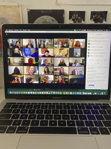 People gather on Zoom, a video conferencing app. Companies and friend groups across the U.S. are video chatting to keep spirits high. - Jamie Lee Finch/Columbia Daily Tribune/TNS