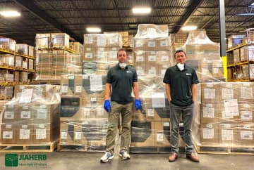 Jiaherb, Inc., based in Pine Brook, donated 5,000 surgical masks and 2,000 coveralls to Morristown Medical Center. (Provided by Chris Oesterheld/)
