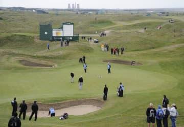 全英オープンゴルフの開催が7月に予定されていたロイヤル・セントジョージズGC=2011年(共同)