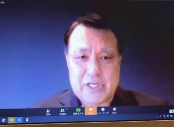 新型コロナウイルスの治療を終えて退院し、WEB会見した田嶋会長
