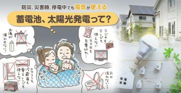 防災、災害時、停電中でも電気が使える 蓄電池、太陽光発電って?