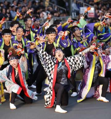 第28回YOSAKOIソーラン祭り=2019年6月9日午後、札幌市中央区